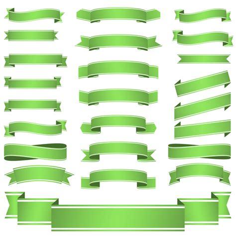 design banner green green ribbon banners vectors 03 vector banner free download