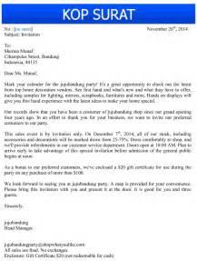 contoh surat undangan bisnis dalam bahasa inggris