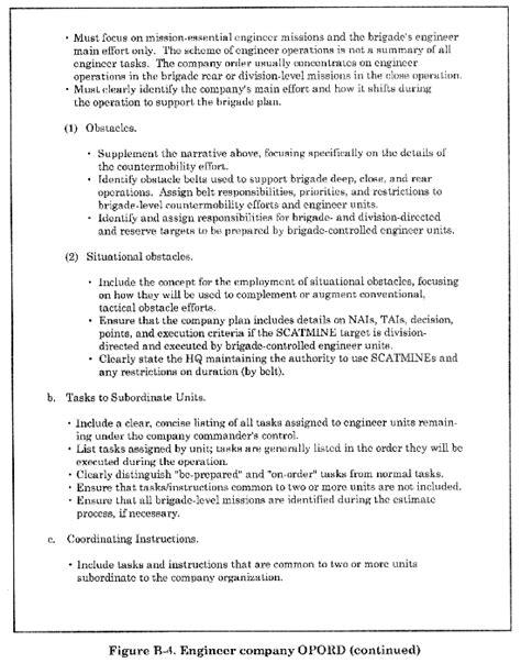 5 paragraph opord template fm 5 7 30 appendix b