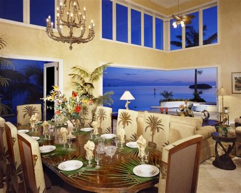 exotic tropical dining room designs  enjoy  view