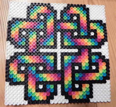 rainbow coaster perler by mydaydreameddesigns