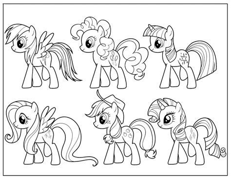 Coloring Pages My Little Pony Friendship Is Magic My Pony Friendship Is Magic Coloring Pages To Print