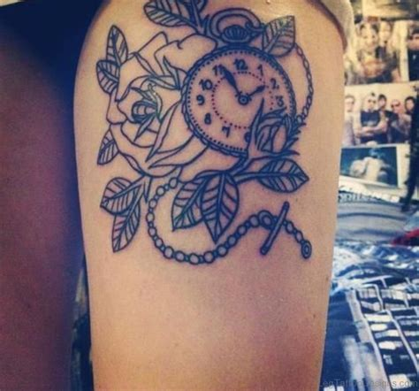 pretty thigh tattoo designs 50 fantastic clock tattoos on thigh
