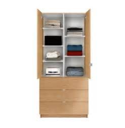 alta wardrobe armoire adjustable shelves 3 drawers