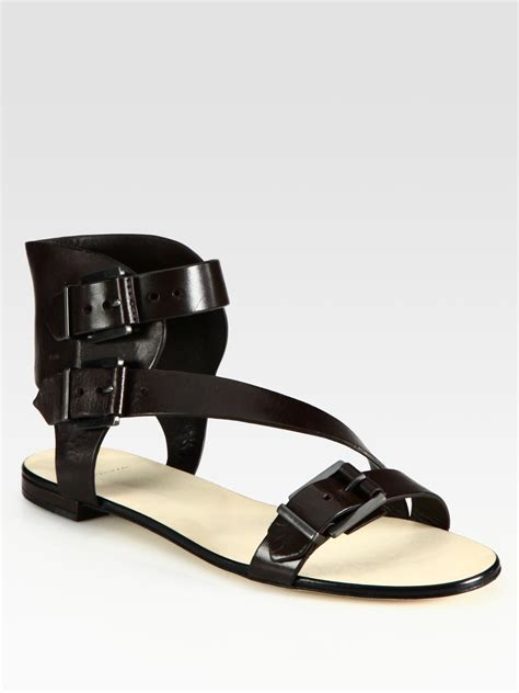 leather gladiator sandals b brian atwood leather gladiator sandals in brown lyst