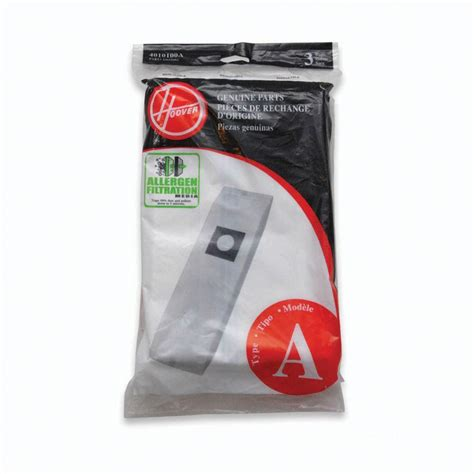 hoover type a allergen filtration bags for select hoover