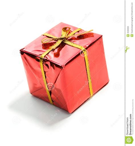 gifts tiny red wrapped christmas gift stock photo image