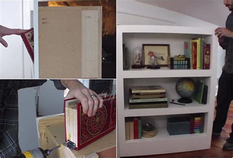 how to make a secret door bookcase home and gardening ideas