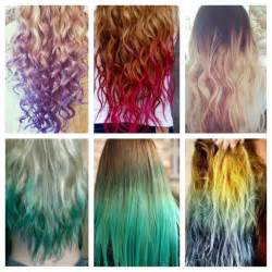 different colors of hair different colored hair hair dye ideas