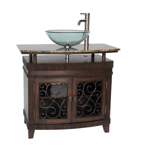 36 inch vessel sink vanity adelina 36 inch vessel sink bathroom vanity medium brown