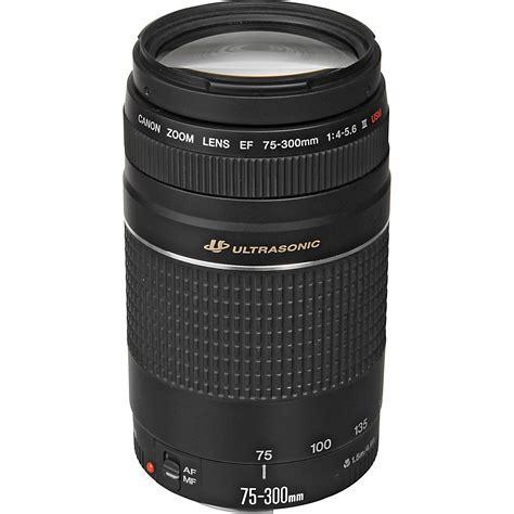 Lensa Canon 75 300mm Ultrasonic canon ef 75 300mm f 4 5 6 iii usm lens 6472a002 b h photo