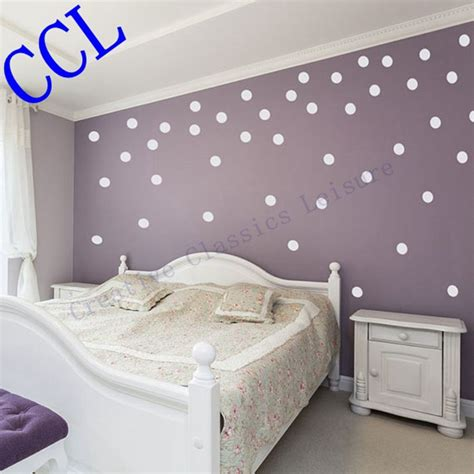 free shipping polka dot wall stickers home decor polka