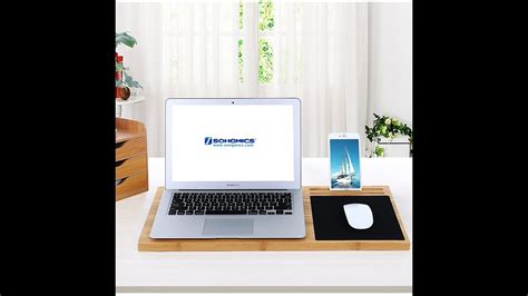 songmics bamboo laptop desk songmics portable bamboo laptop desk tray