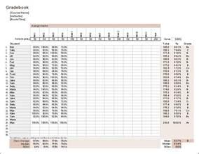 Excel Gradebook Template by Gradebook Template For Excel Free Grade Book
