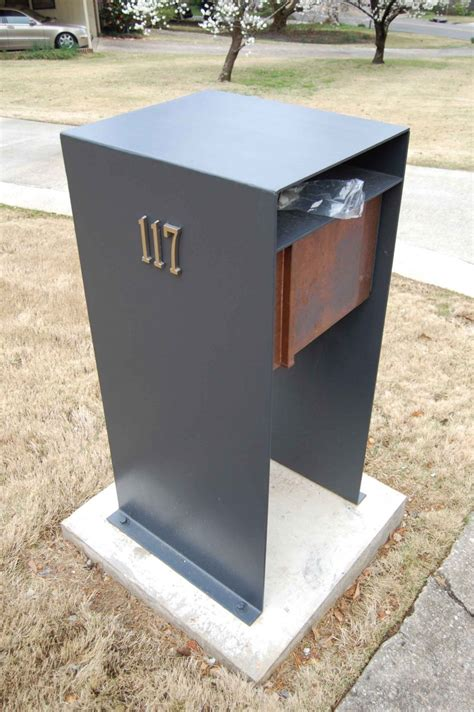contemporary mailboxes mid century modern mailbox design and color options