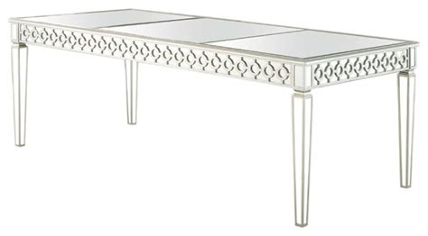 Sophie Silver Mirrored Dining Room Table   Contemporary   Dining Tables   by Furniture Import