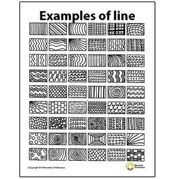 Pattern And Line Worksheets | line pattern handout one page elements of art principles
