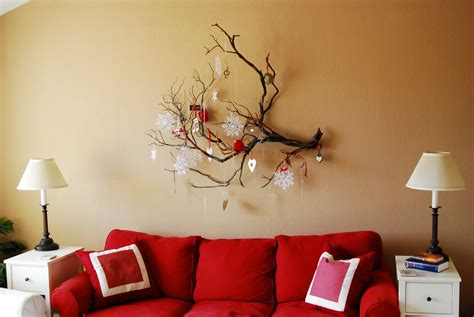 wall home decor ideas marvelous living room with cute interior of red sofa and