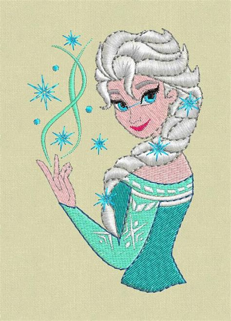 embroidery design elsa frozen elsa frozen embroidery design pes hus jef colour by