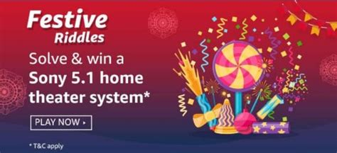 festive riddles amazon sony  home theater quiz answers