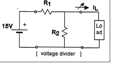 simple resistor divider circuit fig 2 2 shows a simple voltage divider connecting chegg