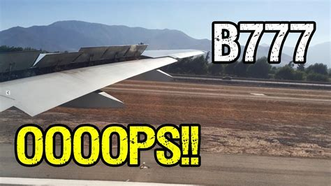 aborted take off air france b777 aborted take off in scl youtube