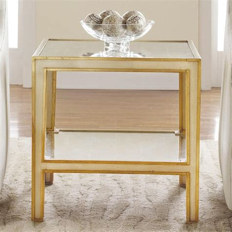 gold mirrored end table mirrored end table i layla grayce