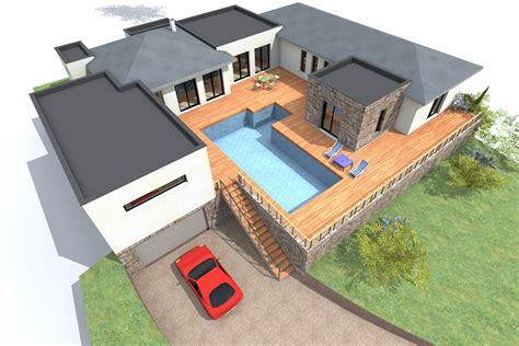 U Shaped House Plans With Pool In Middle news and entertainment maison contemporaine jan 06 2013