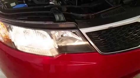 2013 Kia Forte Headlight Bulb 2013 Kia Forte Testing Headlights After Changing Bulbs