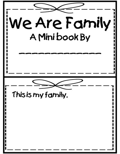 My Family Book Printable grade wow me and my family
