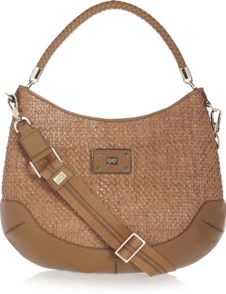 Anya Hindmarch Aretha Shoulder Bag by Anya Hindmarch Woven Leather Shoulder Bag In Brown