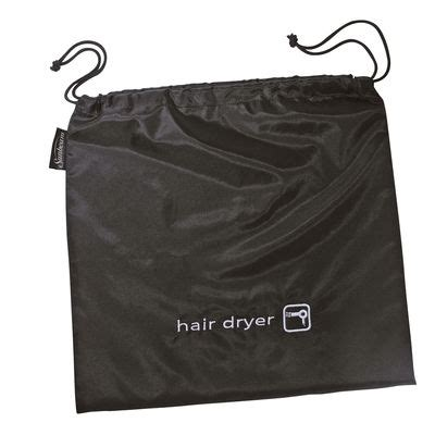 Hair Dryer And Plastic Bag sunbeam hair dryer storage bag black exquisite hotel
