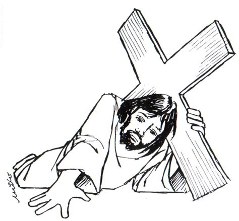 imagenes jesucristo para imprimir dibujos de jesus con la cruz semana santa