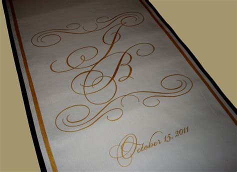 Wedding Aisle Runner Gold by Gynnell S We Did This Ivory Aisle Runner In Deluxe