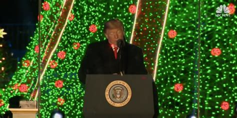 christmas tree lighting speech sles laser dots spotted on president s and chest during tree lighting speech