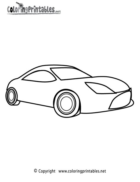 free printable sports car coloring page