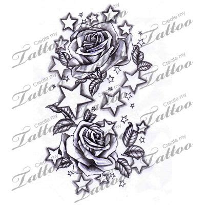 rose and star tattoos 52 best images about on tattoos