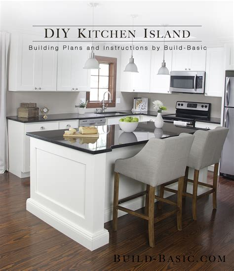 build a diy kitchen island build basic