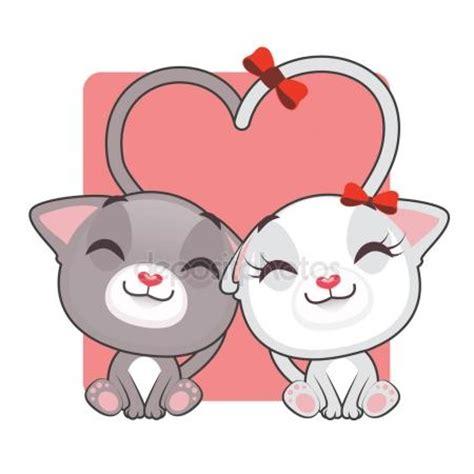 hombre de dibujos animados enamorado dibujos animados de gatitos enamorados vector de stock