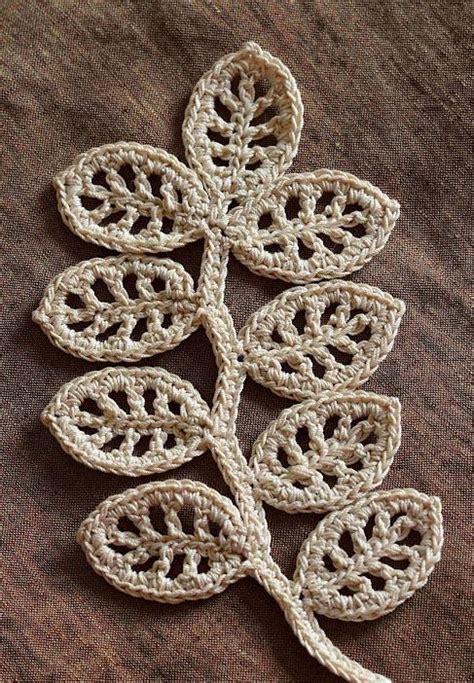 pattern leaf crochet crochet leaf pattern string things pinterest