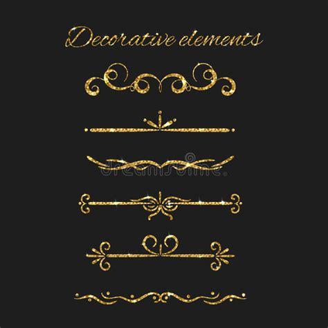 testo oro divisori testo dell oro messi elementi decorativi