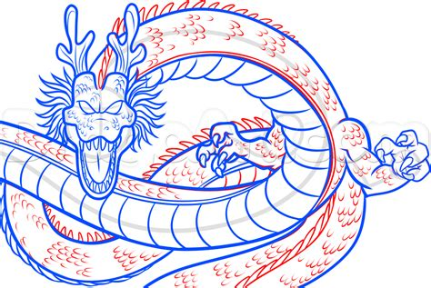 The Draw How To Draw Shenron From Z Step By Step
