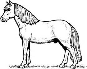 Realistic Horse Coloring Pages sketch template