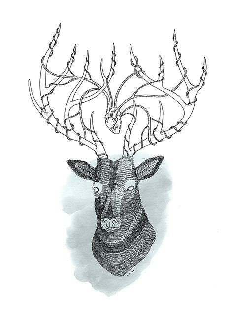 heartbeat tattoo with deer 17 best images about tattoo on pinterest antlers a deer