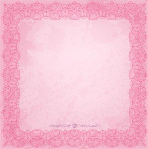 imágenes vintage para descargar marco floral de color rosa descargar vectores gratis