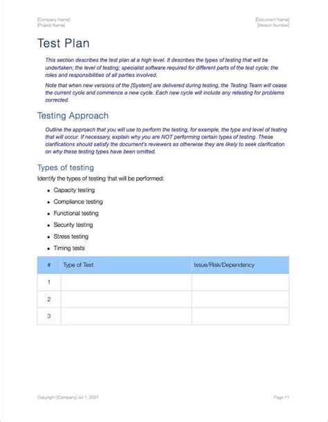 acceptance test report template software testing templates apple iwork pages numbers