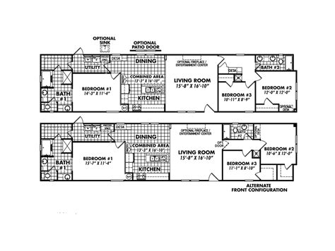 18x80 mobile home floor plans 2016 classic collection home model 1880 32d 1336sq feet