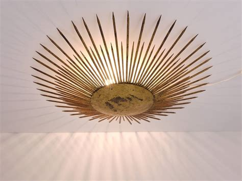 French Sunburst Starburst Flush Mount Plafoniere Ceiling Starburst Ceiling Light