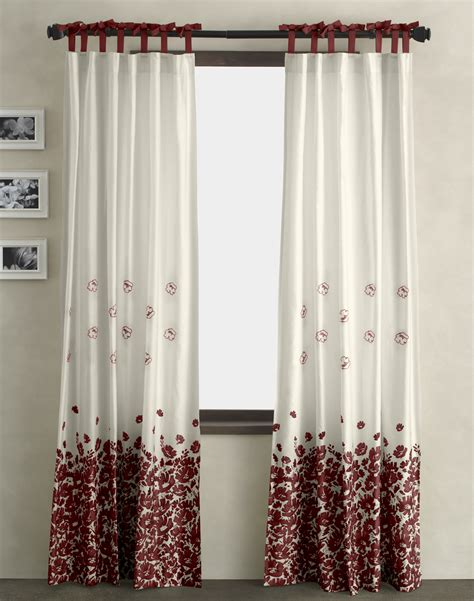 red and white floral curtains curtain designs for windows in changing the atmosphere of