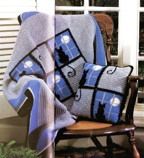 cat blanket pattern snowflakes afghan crochet patterns cat in the window
